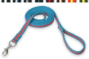 GEE-TAC-HORSE-PADDED-8-MT-MULTI-COLOUR-LUNGE-LINE-LEAD-ROPE-DOG-LEAD-TRACKING