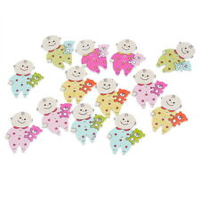Swan Wooden buttons Sewing Scrapbooking Embellishments Crafts 2-Holes 30mm