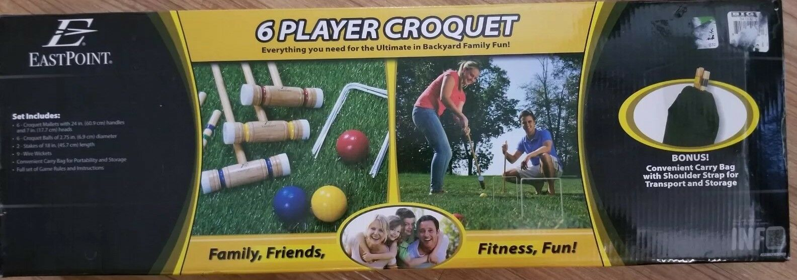East Point Croquet Set 6 player with carry bag