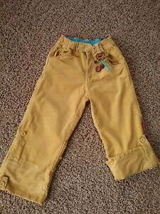Skirts Shilav Girls Corduroy Capri Pants Size 5 Mustard Yellow Adjustable Waist Crochet Warm And Windproof Girls' Clothing (newborn-5t)