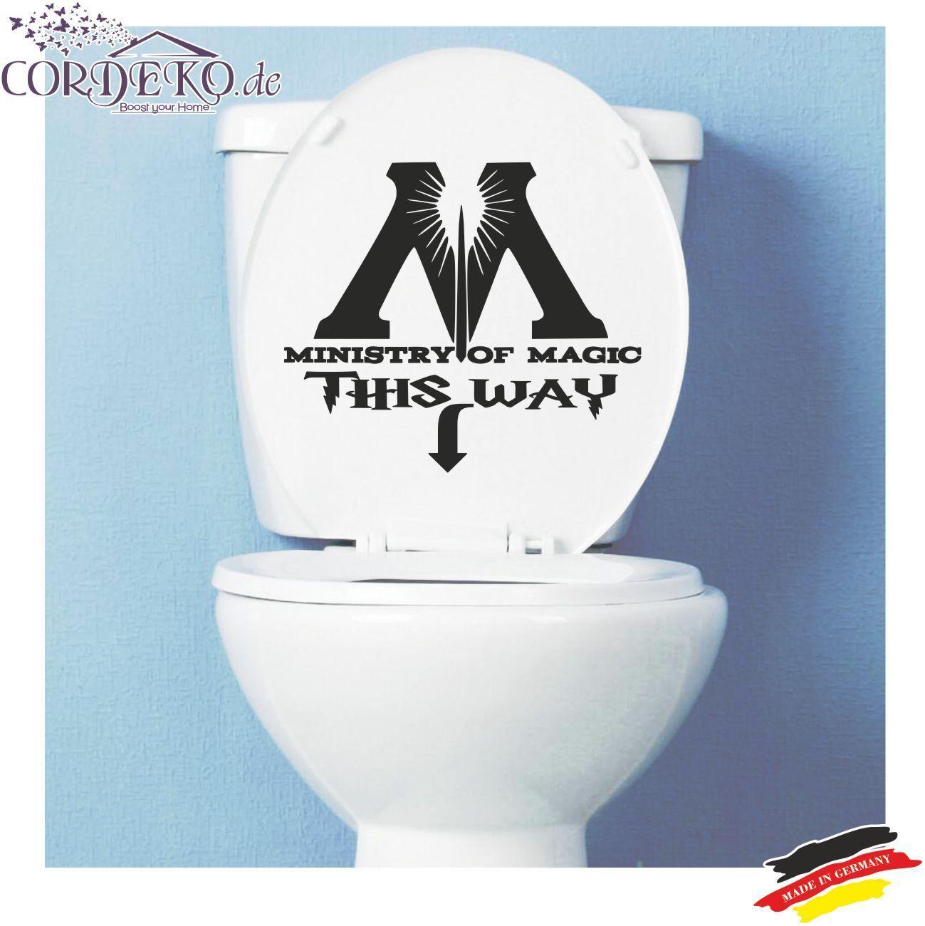 Details zu WC Aufkleber Toilette Bad ●︎ Ministry Of Magic ●︎ Funny  Wandattoo Folie Sticker