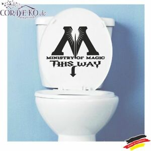 WC-Aufkleber-Toilette-Bad-Ministry-Of-Magic-Funny-Wandattoo-Folie-Sticker
