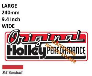 VINTAGE-ORIGINAL-HOLLEY-DECAL-STICKER-LARGE-240-MM