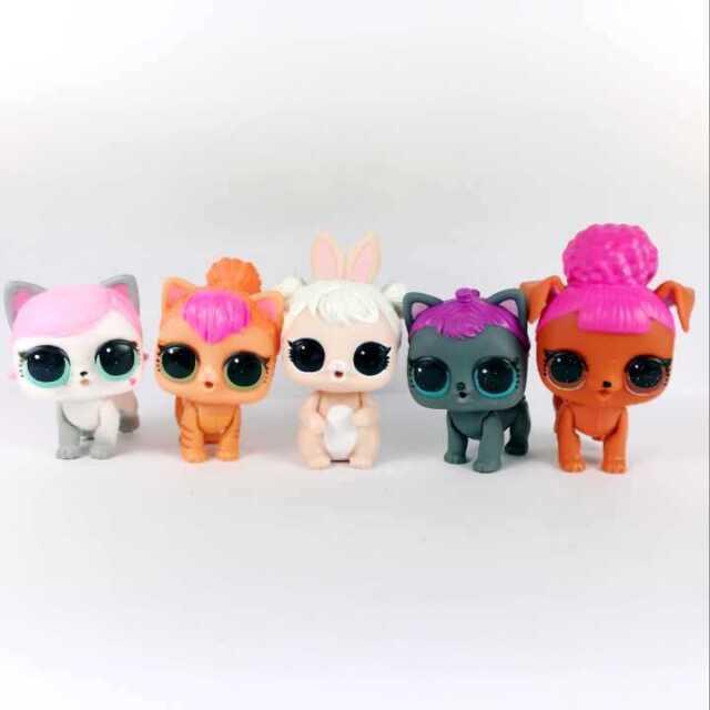 Lot5Pcs Lol Surprise Pets Series 3 Wave 2 Dog Puppy Cat Kitten animals Toys doll