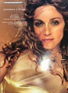 Frozen, Madonna 1998 Hit Song, Pop Sheet Music