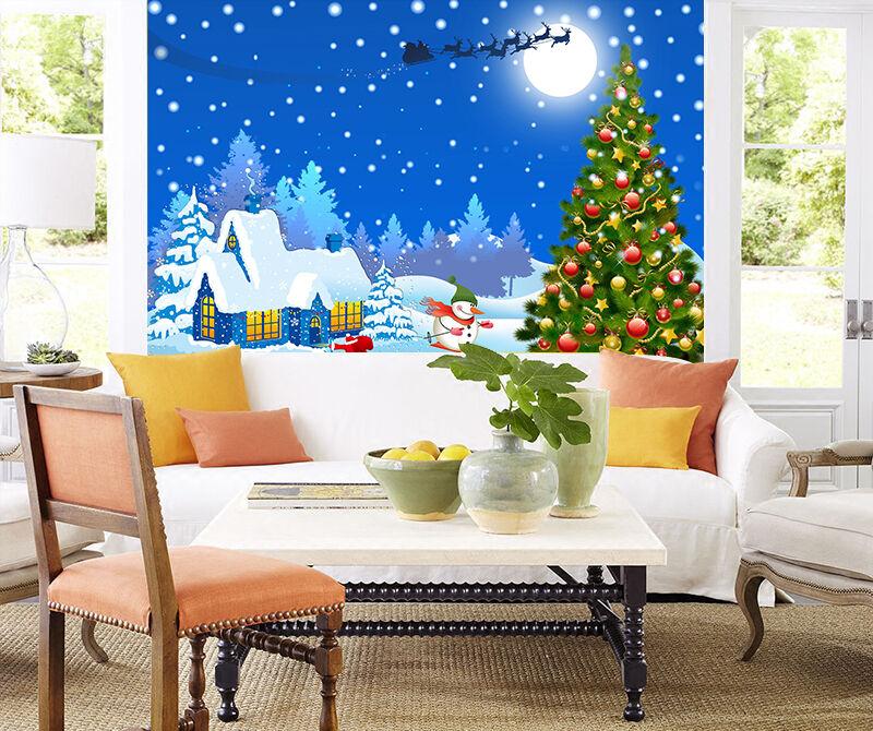 3D Hohe Weihnachtsbaum 795 Fototapeten Wandbild BildTapete Familie DE