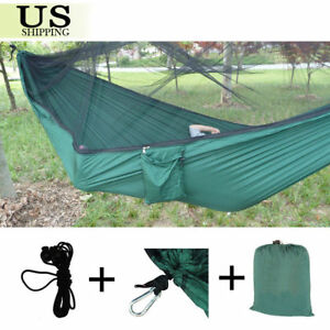 image is loading 2 person travel camping hammock parachute nylon fabric  2 person travel camping hammock parachute nylon fabric hanging bed      rh   ebay
