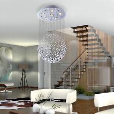 Crystal Lamp Modern Ceiling Light Chandelier Pendant 6 Light Mount Fixture Glass