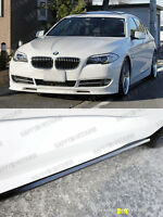 / Unpainted 11+ Bmw F10 Performance Side Skirts Extension Fit M-tech M-sport