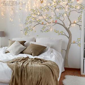GRANDE Albero Stencil Pack-INC. foglie & Birds. creare Murale Parete Vernice-Aggiungi 10618