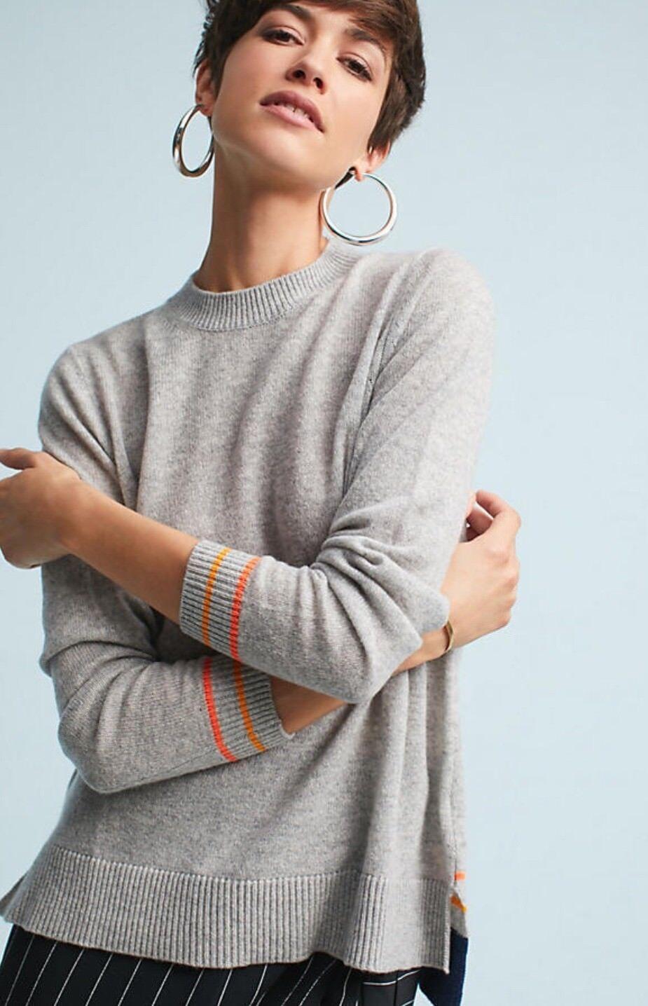 Nuevo Suéter  De Cachemira Suéter anthropologie Aguja Lori Tamaño Grande Jumper  costo real
