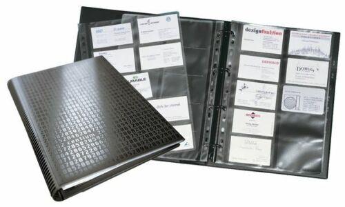 Register A-Z DURABLE Visitenkarten-Ringbuch VISIFIX A4 400 Visitenkarten 12-tlg