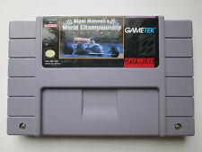 Nigel Mansell's World Championship Racing (Super Nintendo SNES, 1991) NTSC/US/CA