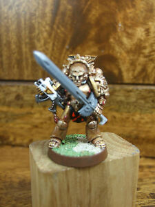 CONVERTED CLASSIC METAL SPACE MARINE TYCHO WITH POWER SWORD PAINTED (2740)