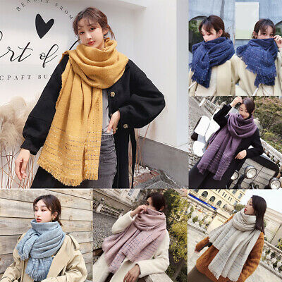 New Ladies Sequin Knitted fashion Scarfs Long Winter Warm Shawls