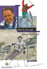 Autogramm Christian Neureuther Ski alpine original signiert  Vater von Felix