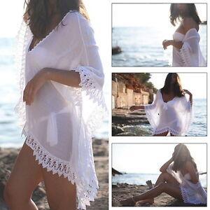 Bikini Cover up Sarong Swimwear Kaftan Dress Summer Beach Wear Lace Crochet