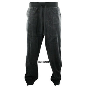 Fila-Velour-Regular-Fit-Pants-Mens-Charcoal-Grey-New-with-tags-LM143KE6-074