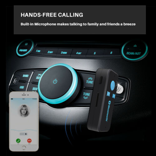 Bluetooth Audio Receiver Wireless Music 3.5mm AUX For Speakers Car Stereo Hi-Fi