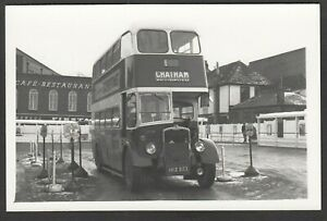 Bus-Photograph-postcard-size-HKE-853-destination-Chatham-Kent-NOT-A-POSTCARD