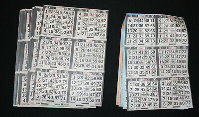 Black border 25 packs  FREE SHIPPING BINGO PAPER Cards sheets 9 on 5 up