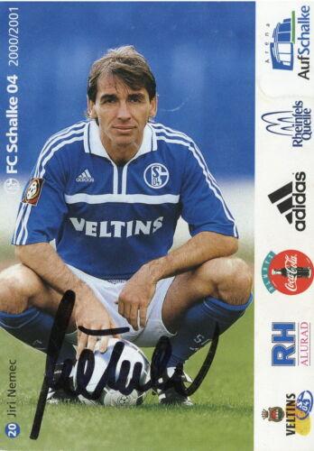 Jiri Nemec Fankarte 2000 2001 FC Schalke 04 Gelsenkirchen Fussball Bundesliga