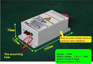 high-voltage-power-supply-with-30KV-300W-output-for-removing-smoke-lampblack
