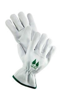 Leather Work Gloves By Fir Tree. Premium Goatskin Utility Gloves. Great Gardenin