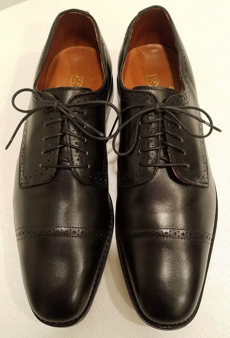 Allen Edmonds Yorktown like Park Ave Black Leather Mens Oxford shoes Size 9.5 D