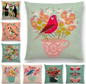 Bird-Style-Cotton-Linen-Pillow-Case-Sofa-Waist-Throw-Cushion-Cover-Home-Decor