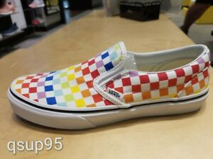 c86bb7608032 Vans Slip-On Slip On Rainbow White Checkerboard Multi-Color PS Women ...