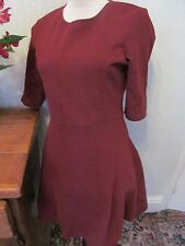 topshop size 10 maroon short skater dress