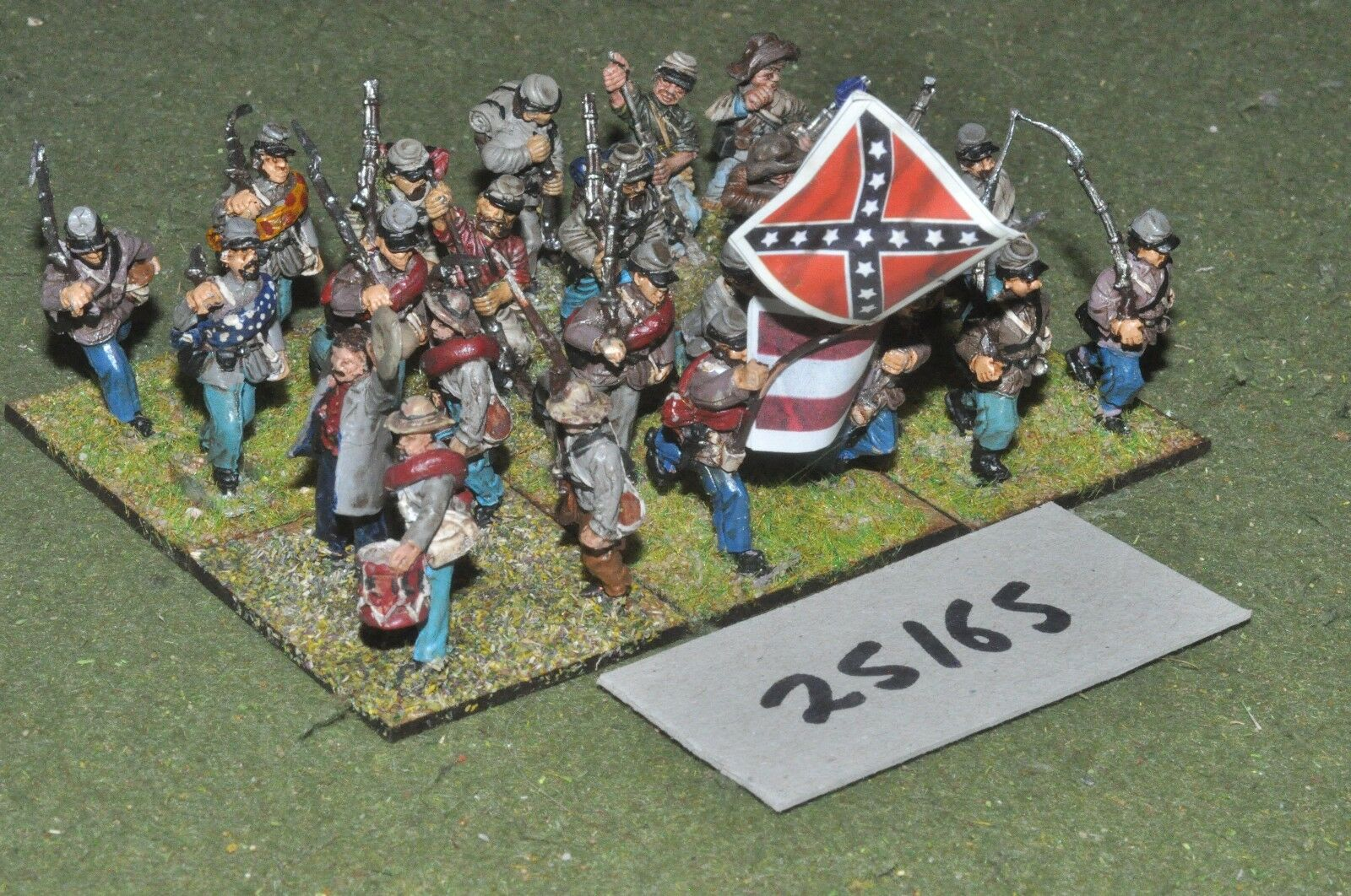 25mm ACW   confederate - battalion 24 figures - inf (25165)