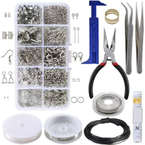 Jewelry Making Kit Set Tool Findings Starter Pliers Lobster Beading Accessories