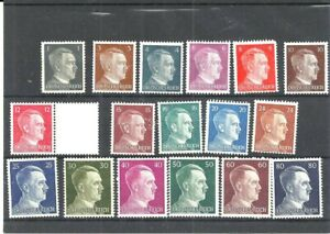 GERMAN REICH STAMPS 1941-44 Hitler, Collection MLH