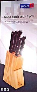 Messerblock-5-teilig-Set-Kueche-Messerhalter-Messerleiste-Messerblock-aus-Holz