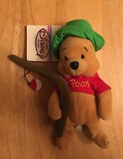 "Disney Store Winnie The Pooh Mini Bean Bag Plush Fishing Pooh 8"" - NWT"