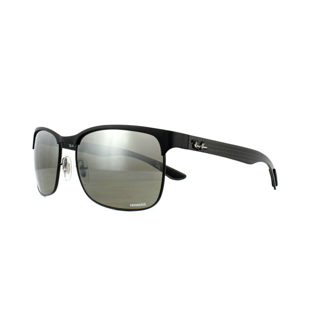 e4f7bd2ae5fb8 Ray-Ban Sunglasses Rb8319ch 186 5j Black Silver Mirror Polarized Chromance  for sale online