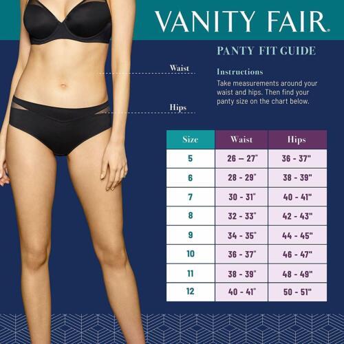 Vanity Fair Illumination Whirlwind Print Full-Cut Brief Size 7//Large