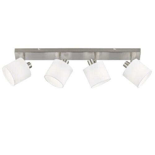 Luxus LED Decken Lampe Wohn Zimmer Textil Schirm Beleuchtung verstellbar weiß