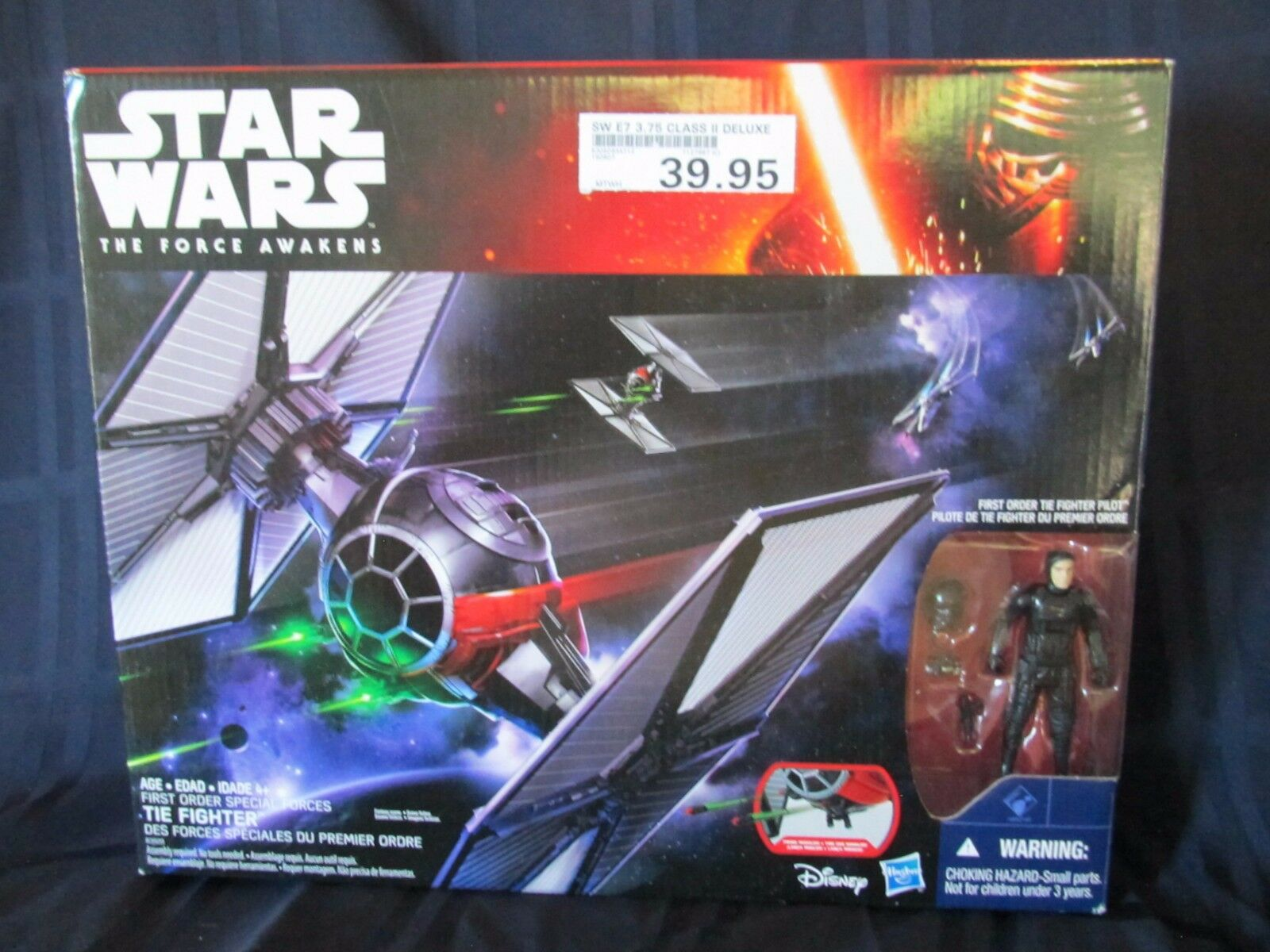 NIB Star Wars The Force Awakens Episode 7- 1st Order Special Forces Tie Fighter