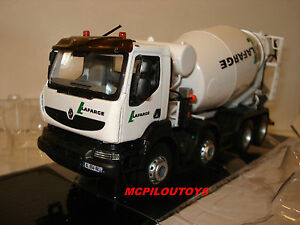 Norev Renault Trucks Kerax 8x4 Porte Malaxeur Lafarge 2008 Au 1/43°