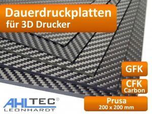 3D Drucker Dauerdruckplat<wbr/>te für Prusa 200 x 200mm - ABS PLA PETG HIPS Filament