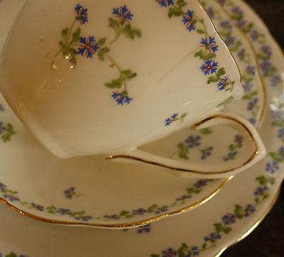 Jackson & Gosling Edwardian China 6 Piece Tea Set for 2 Cornflower Design c1919
