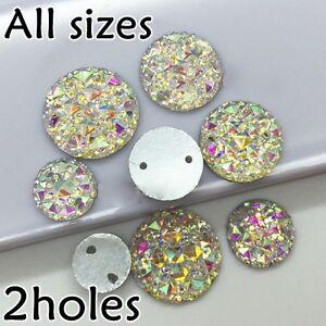 Sparkly-Glitter-AB-Round-Shape-Resin-Acrylic-Rhinestone-Silver-Flat-Back