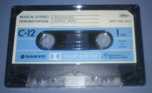 SANYO-DEMONSTRATION-CASSETTE-PAPER-LABELS-cassette-tape-N144