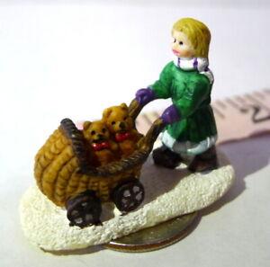 Girl-pushing-Baby-Carriage-Bears-Christmas-Grandeur-Noel-Victorian-Village-1995