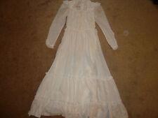 Vintage Gunne Sax Wedding Party Dress, White, Renaissance, Gown, Size S, 2/4