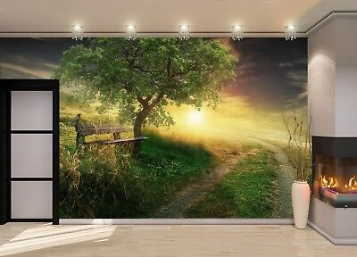 Road to the Hill Photo Wallpaper Wall Mural DECOR Paper Poster Wall art
