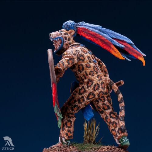 Aztec Jaguar Warrior 54mm 1//32 Tin Toy Soldier MiniatureArt Quality